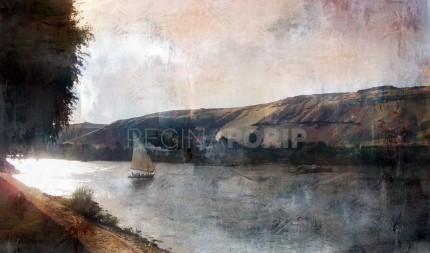 Afrika Ägypten Nil 1  –  120 x 70 cm