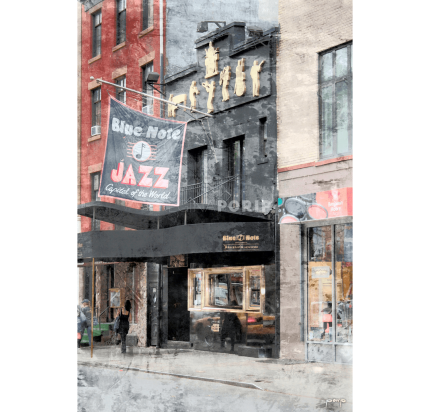 New York Blue Note – 50 x 75 cm