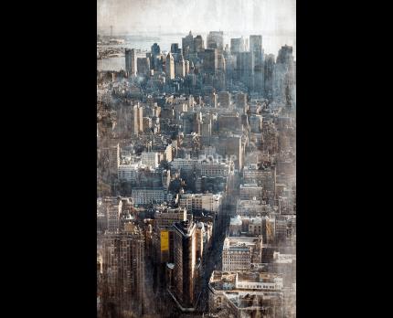 New York Luftaufnahme – 60 x 95 cm