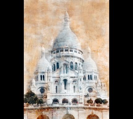 Paris Basilika Sacre Coeur 40 x 55 cm