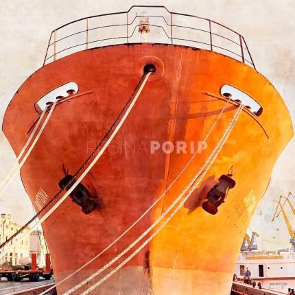 Italien Triest mit Schiff – 50 x 50 cm
