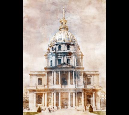 Paris Dôme des Invalides – 60 x 85 cm