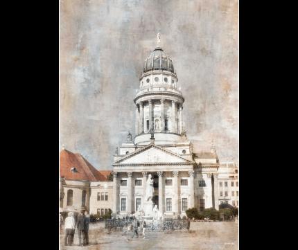 Berlin 14 mit Dom am Gendarmmarkt – 35 x 50 cm
