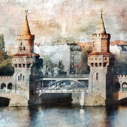 Berlin 10 Oberbaumbrücke – 30 x 30 cm