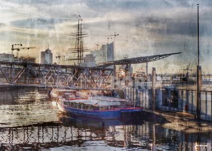 Hamburg Hafen 56 – 100 x 70 cm