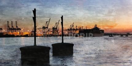 Hamburg Hafen 48 – 100 x 50 cm