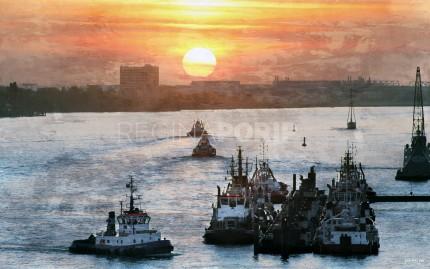 Hamburg Hafen 49 – 120 x 75 cm
