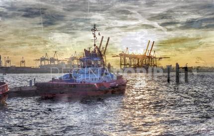 Hamburg Hafen 51 – 80 x 50 cm