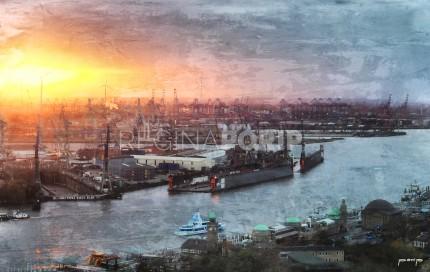 Hamburg Hafen 54 – 120 x 75 cm