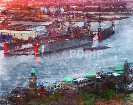 Hamburg Hafen 55 – 90 x 70 cm
