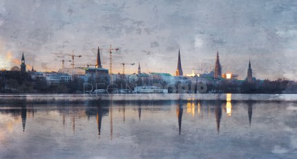 Hamburg Alster 48 – 130 x 70 cm