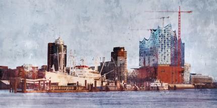 Hamburg Hafen 59 mit Elbphilharmonie – 100 x 50 cm