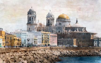 Spanien Cádiz  –  80 x 50 cm