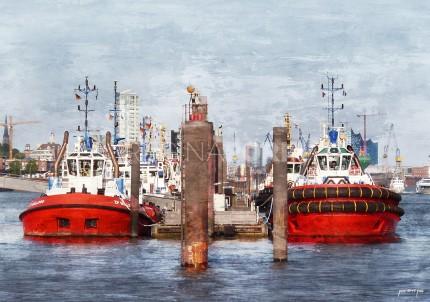 Hamburg Hafen 63  –  60 x 40 cm