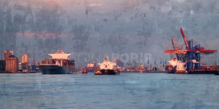 Hamburg Hafen 60  –  120 x 60 cm
