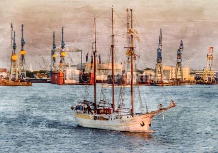 Hamburg Hafen 61  –  60 x 40 cm