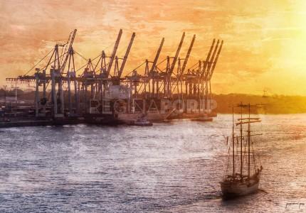 Hamburg Hafen 62  –  60 x 40 cm
