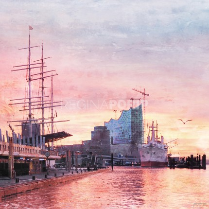 Hamburg Hafen 58  –  60 x 60 cm