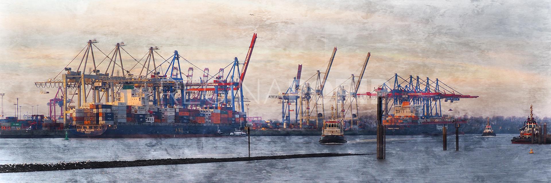 Hamburg Hafen 70  –  90 x 30 cm