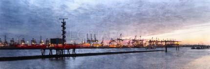 Hamburg Hafen 71  –  90 x 30 cm