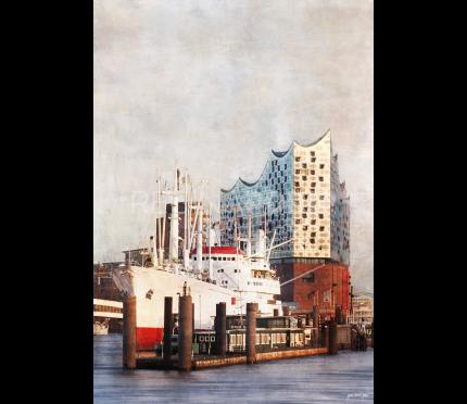 Hamburg Hafen 66 mit Elbphilharmonie – 70 x 100 cm