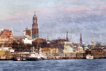 Hamburg Hafen 64  –  60 x 40 cm