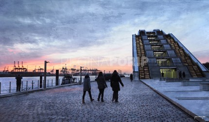 Hamburg Hafen 65  –  60 x 35 cm