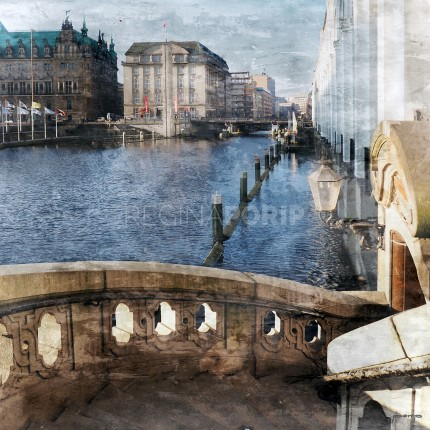 Hamburg Alsterarkaden 3  –  40 x 40 cm