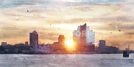 Hamburg Hafen 67  –  120 x 60 cm
