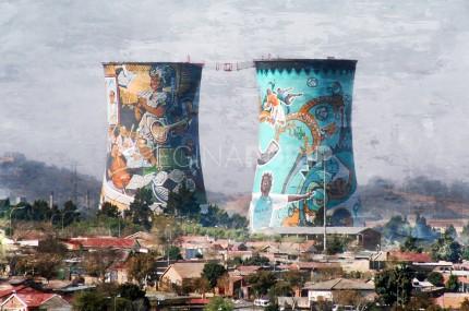 Johannesburg Soweto – Orlando Towers – 75 x 50 cm