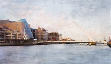 Dublin 1 – Samuel Beckett Bridge –  70 x 40 cm