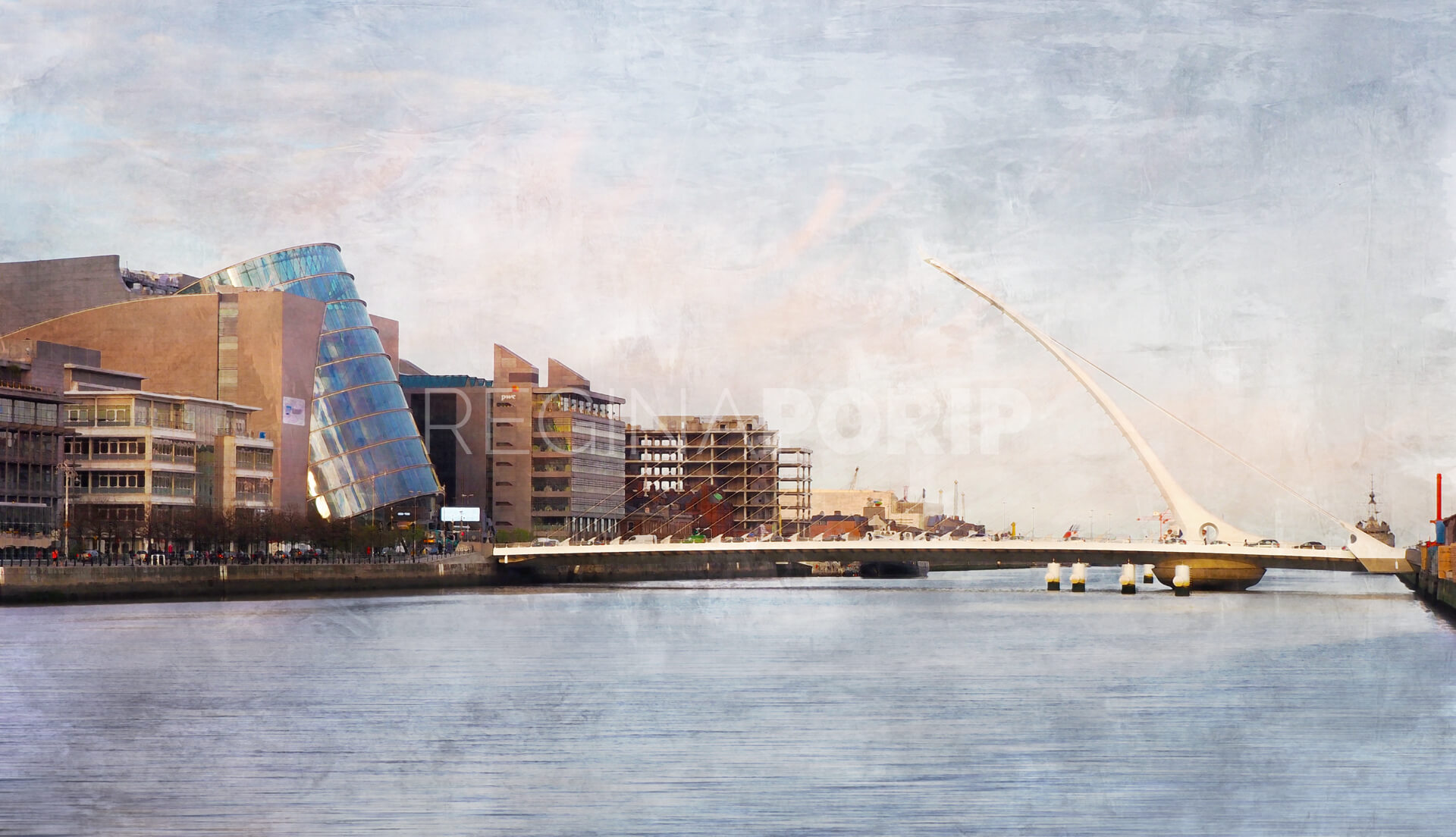 Dublin 1 – Samuel Beckett Bridge –  70 x 40 cm