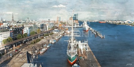 Hamburg Hafen 73  –  120 x 60 cm