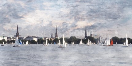 Hamburg Alster 56  –  120 x 60 cm