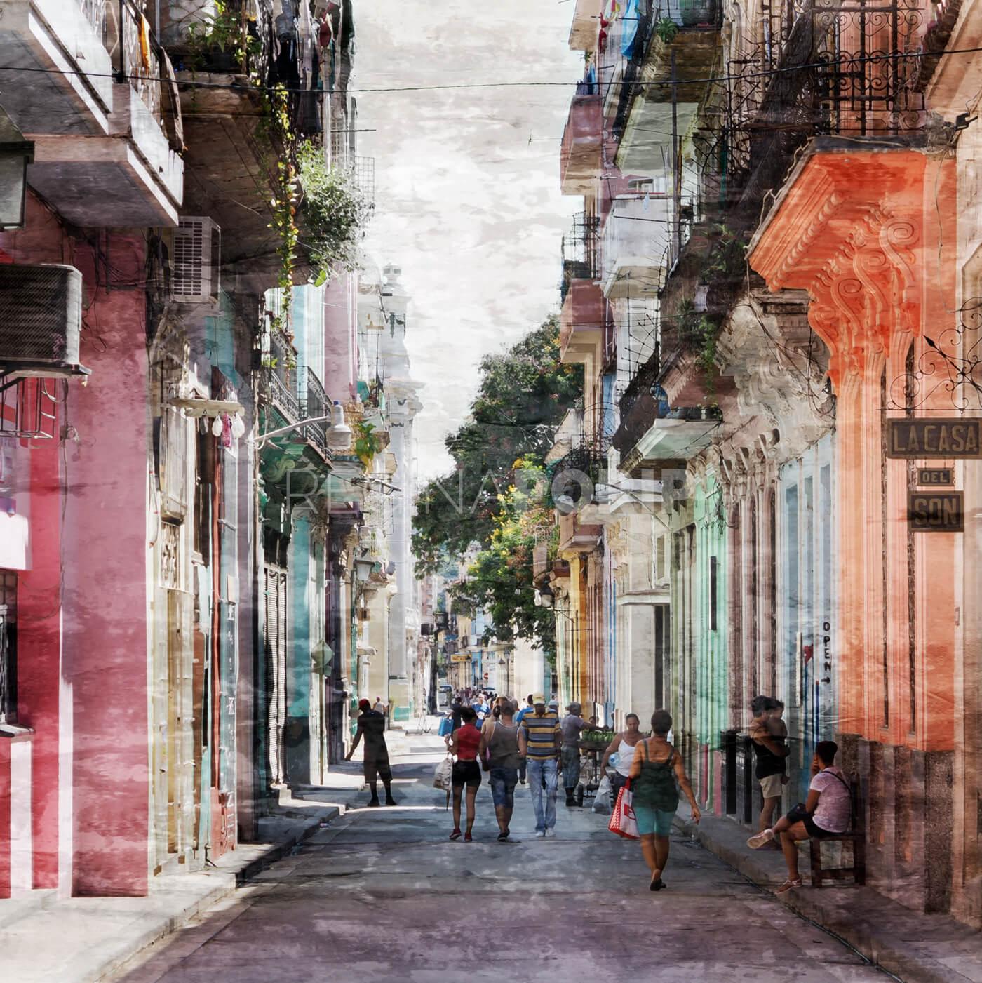 Kuba – Havanna 1  –  80 x 80 cm