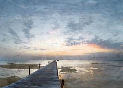 Nordsee mit Sunset 1 –  70 x 50 cm
