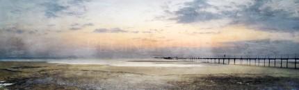 Nordsee mit Sunset 3  100 x 30 cm