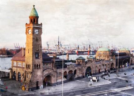 Hamburg Landungsbrücken 13  –  70 x 50 cm