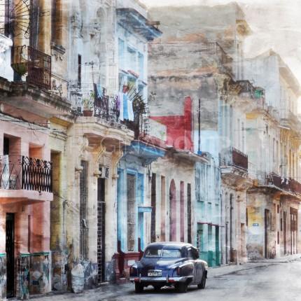 Cuba – Havanna 8  –  60 x 60 cm