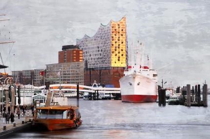 Hamburg Hafen 75  –  60 x 40 cm
