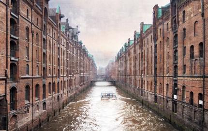 Hamburg Speicherstadt 19  –  80 x 50 cm