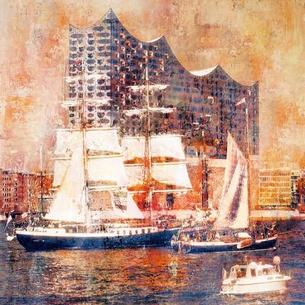 Hamburg Hafen 80  –  60 x 60 cm
