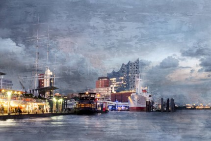 Hamburg Hafen 82  –  100 x 70 cm