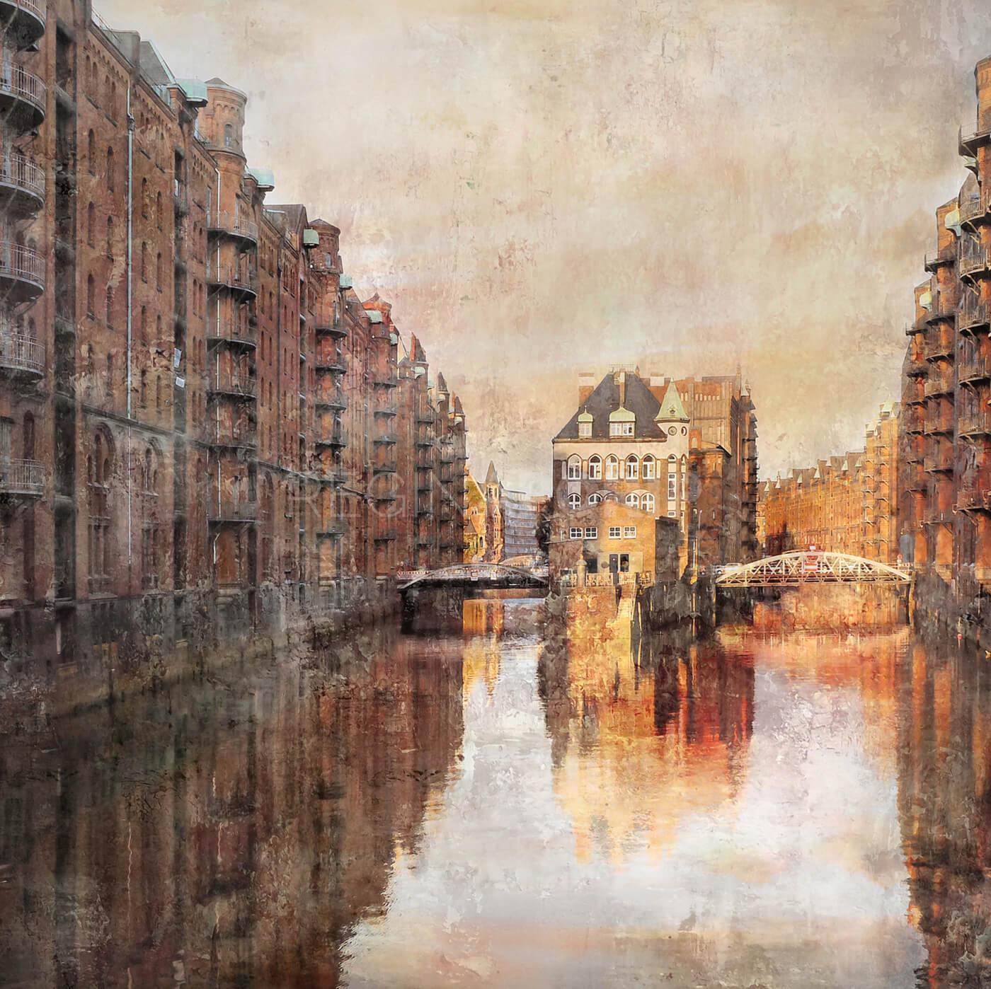 Hamburg Speicherstadt 20  –  100 x 100 cm