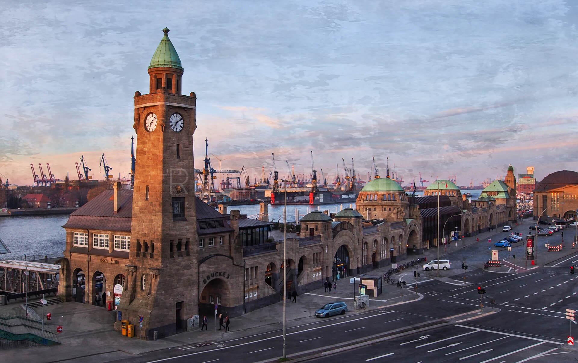 Hamburg Landungsbrücken 14  –  120 x 75 cm