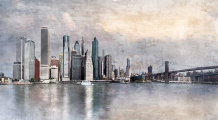New York City Skyline 15 – 110 X 60 CM