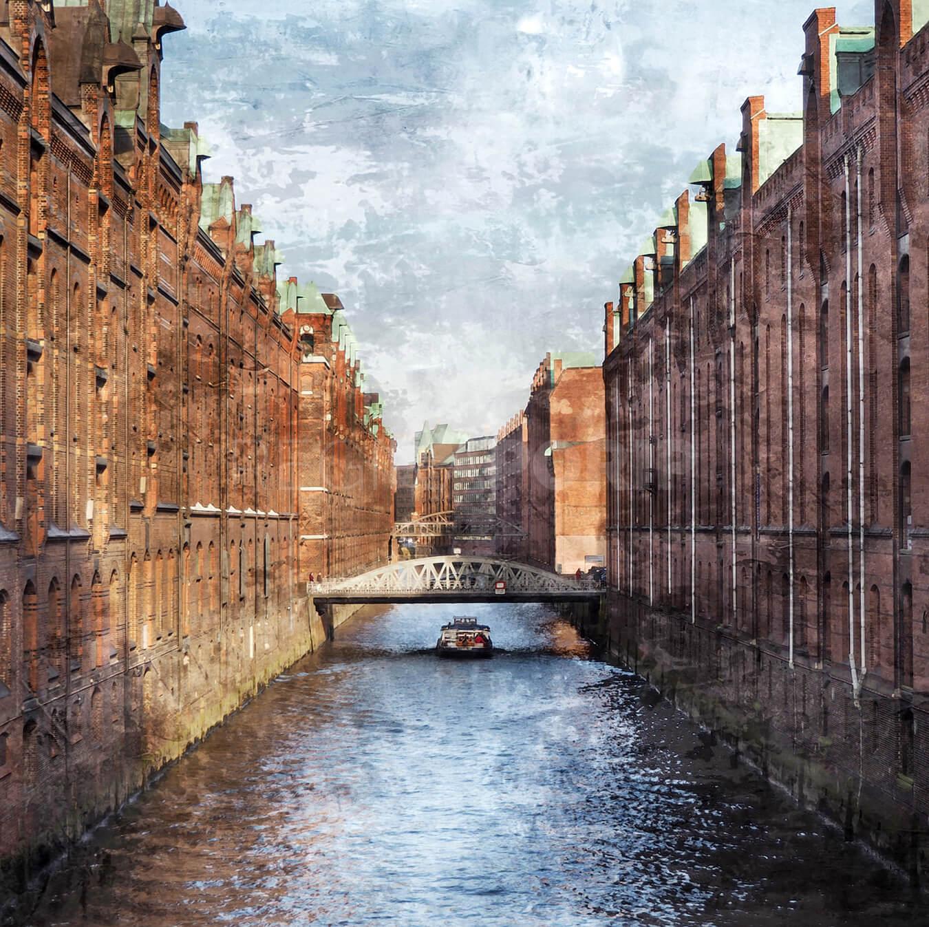 Hamburg Speicherstadt 21  –  100 x 100 cm