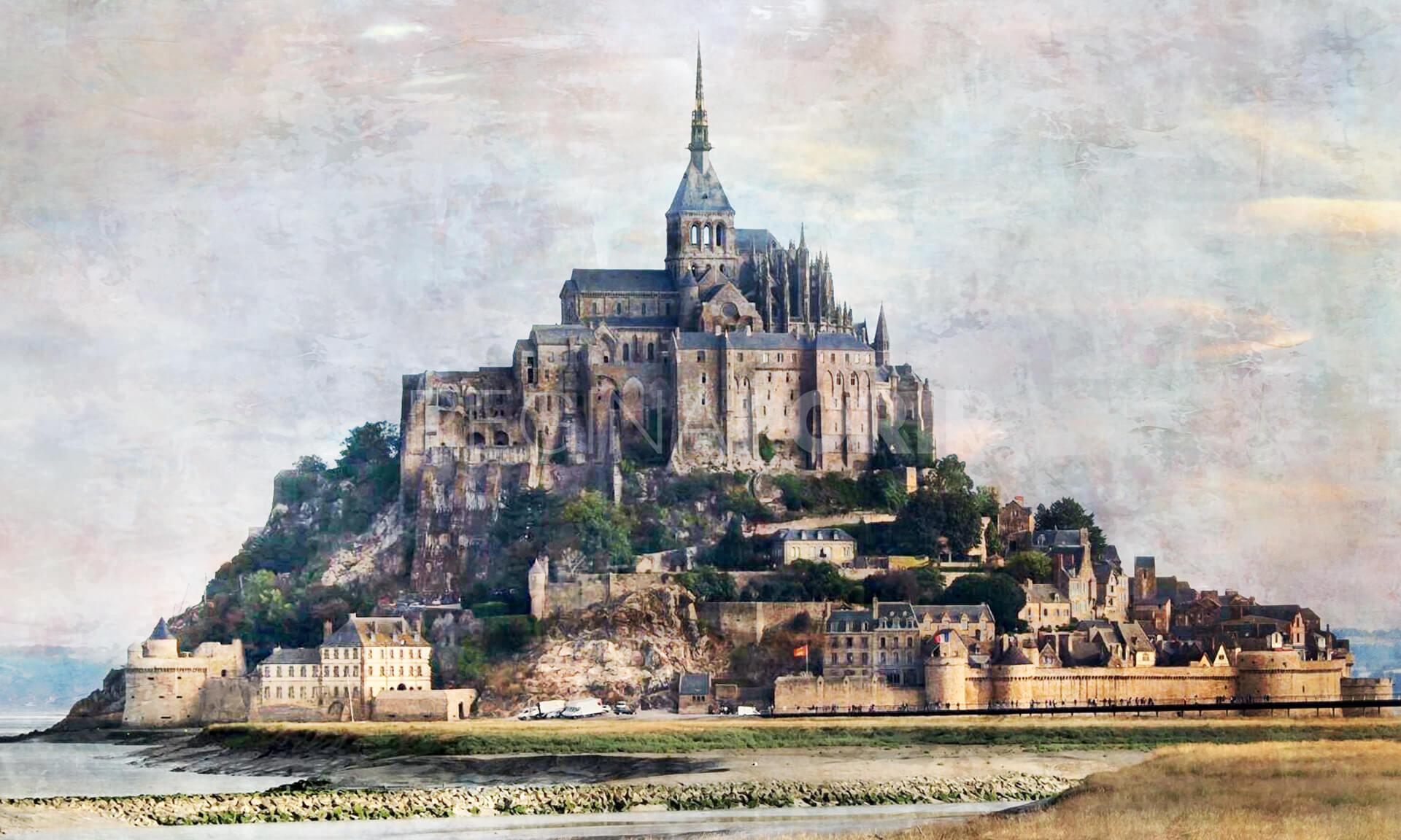Frankreich Le Mont-Saint-Michel  –  100 x 60 cm