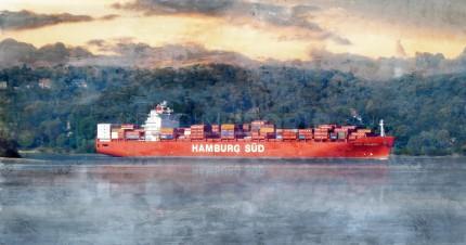 Hamburg Süd 7  –  100 x 50 cm