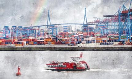 Hamburg Hafen 83  –  100 x 60 cm